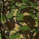 TOLKO Camouflage Stoff als Meterware Zum Nähen - Leichtes,
