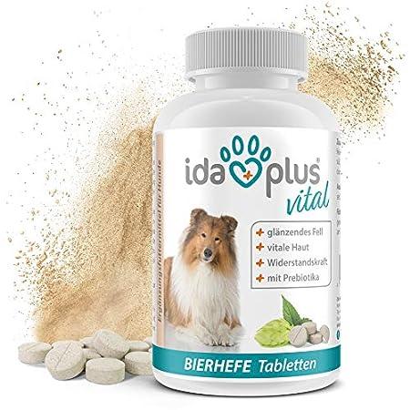 Ida Plus – Bierhefe-Tabletten mit Sollbruchstelle – optimale Pflege für glänzendes Fell & kräftige Haut – reich an B…