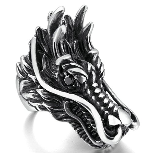 epinkifashion-jewelry-mens-large-heavy-stainless-steel-rings-agate-silver-black-dragon-biker-size-z-