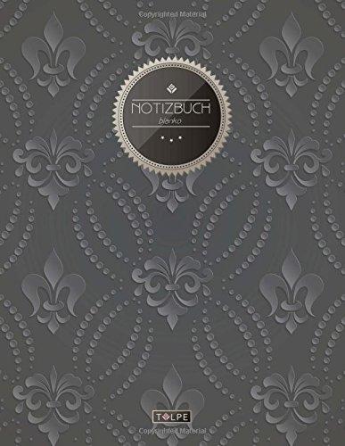 "TULPE Blanko Notizbuch A4 ""C077 Royal Flowers"" (140+ Seiten, Vintage Softcover, Seitenzahlen,..."