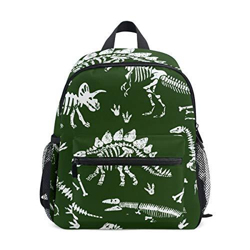 Kinderrucksack T-Rex Dinosaurier Skelett Grün Kindergarten Vorschule Tasche für Kleinkind Mädchen Jungen