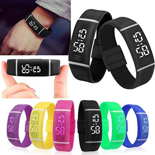 GKP Products ® Digital TPU Band Black Unisex Wrist Watch DWP005