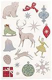 Wilton Martha Stewart Christmas Stickers-Frosty Elegance Glittered Icons