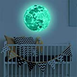 Adesivi murali 3D per la camera da letto per camerette da bambini, blu luminoso, verde terra, B