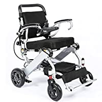 OPOME Compact Foldable Power Chair, Fold Mobility Aid Chair, Super Lightweight 50 lbs Folding Carry Electric Wheelchair, Motorized Wheelchair, Powerful Dual Motor Wheelchair …