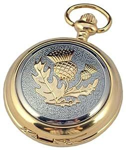 A E Williams Men's Scottish thistle Mechanical Pocket Watch Gp4825Sk