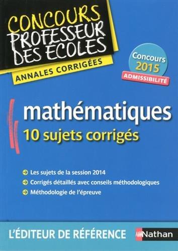 Annales CRPE 2015 : Admissibilité Mathématiques