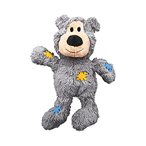 KONG Wild Knots Bear Dog Toy, Medium/Large Colours (Ansia Da Separazione Cane)