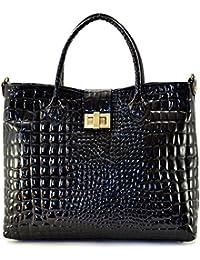 Cuir-Destock sac à main porté main et bandoulière cuir façon croco vernis  modèle v 4e7e46b0f57