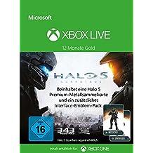 Xbox Live - Gold-Mitgliedschaft 12 Monate + eine Halo 5 Sammelkarte [Xbox Live Online Code]