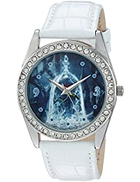 Disney Women's 'Beauty' Quartz Metal Casual Watch, Color:White (Model: WDS000312)