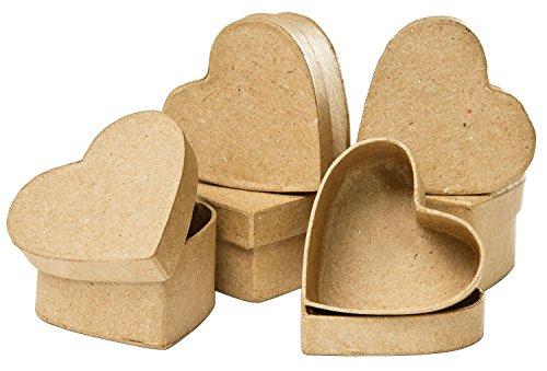 6-Stk-VBS-Schachtel-Herz-Pappmach-Herzschachteln-basteln-Geschenk-Hochzeit-Liebe-Decoupage-Decopatch