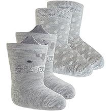 2er oder 3er Pack Babysocken M/ädchensocken Markensocken Socken Str/ümpfe ganzj/ährig Markenartikel Schleifchen Blumen f/ür Babys EW-24333-S18-BM0 inkl Fashionguide EveryKid Ewers 1er