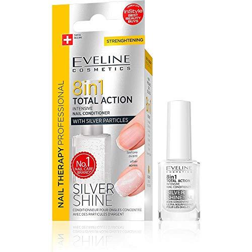 Eveline 8in1 Total Action Nagel Conditioner mit Silberpartikeln, 1er Pack (1 x 12 ml)