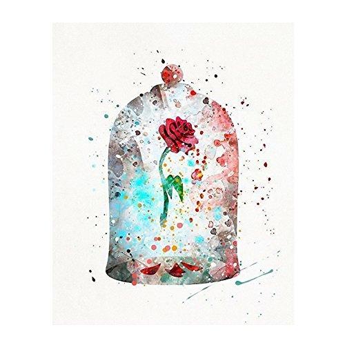 osmanthusFrag Abstrakt Rose Glas Cover Leinwandbild Bild Wandbild Raum Hotel Decor Ornament, Canvas, 40 x 60 cm