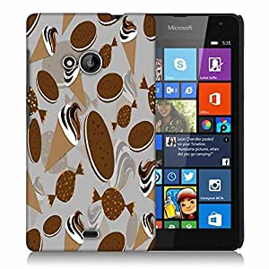 Snoogg Pattern White In Blue Designer Protective Phone Back Case Cover For Microsoft Lumia 535