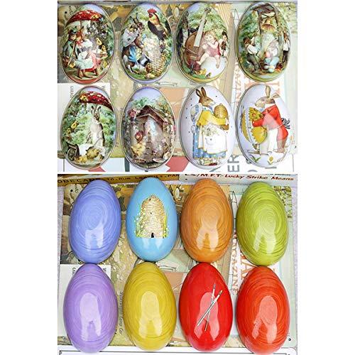 Kaimeng easter egg tin candy box modello in stile europeo uovo per forniture per feste a casa di pasqua