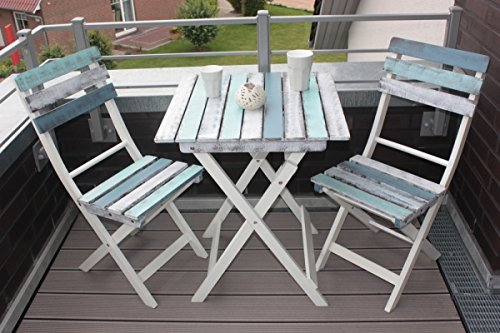 Unimet Balkonset 3 Teilig-665641, grau, 180 x 130 x 50 cm, 55920