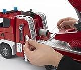 bruder 03590 Scania R-Serie Feuerwehrleiterwagen mit Wasserpumpe und Light & Sound Modul Test