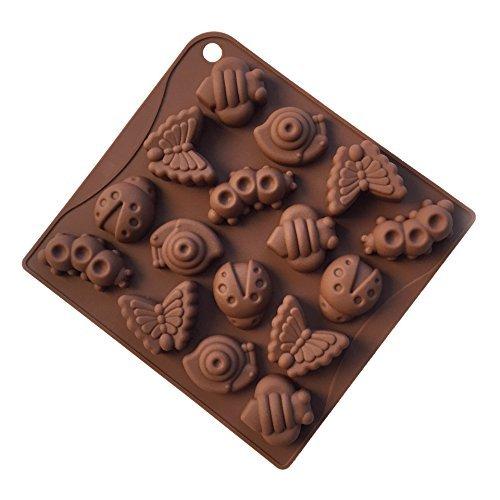 Lanlan Liner Verwendung für Tabletts Homemade Ice Cube Seife Schokolade Jello Candy Kuchen Silikon Gummy Candy Schokolade und Seife molds-mold Pfannen-Set 1-(AD187) (Cake Pan-liner)