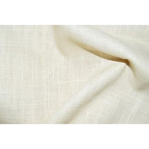 Tissu lin écru - 100% lin écru - qualité supérieure (par multiple de 20cm)