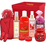 BodyHerbals Weekend Escapes Strawberry & Rose Bathing Spa Hamper (Gifting Idea for any Occasion Birthday, Anniversary Wedding) Beauty, Skin Care