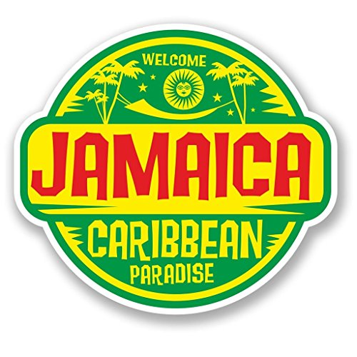 Preisvergleich Produktbild 2x Jamaica Jamaika Vinyl Aufkleber Aufkleber Laptop Reise Gepäck Auto Ipad Schild Fun # 5750 - 15cm/150mm Wide