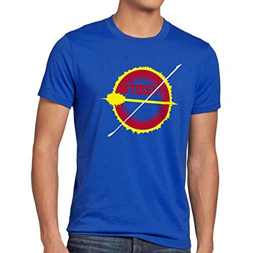 CottonCloud BTOOOM! Esplosione T-shirt da uomo manga anime, Dimensione:2XL;Colore:blu