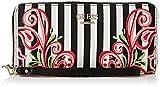 Guess Arianna, Portafoglio Donna, Nero (Black Stripe), 2x10x21 cm (W x H x L)