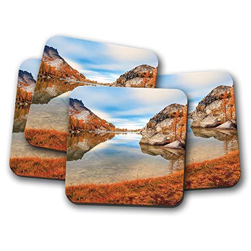 Washington Cascades (Cascade Mountains Untersetzer - Washington, USA Scenery Travel Gift #16851)