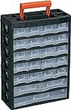 Alutec Werkzeugkasten unbestückt 56670 Kunststoff Schwarz, Rot