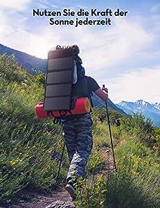 RAVPower Solar Ladegerät 28W Wasserdicht Solarpanel USB Charger Outdoor mit 3-USB-Port für Handy, Tablets, Smartphone, mit 21,5-23,5% Umwandlungseffizienz, Ideal für Camping, Wandern from RAVPower