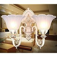 ZHGI Unione-doppia lampada da parete comodino minimalismo luce lampada a specchio camera da letto soggiorno navate balcone confortevole scala luci a parete