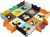 XMTMMD Baby Puzzle matte Play Bereich Weich ineinandergreifende SCHAUMSTOFF Spielmatte Set Schutz Bodenbelag Fliesen für Kinder AM10B