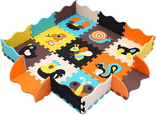 XMTMMD Baby Puzzle matte Play Bereich Weich ineinandergreifende SCHAUMSTOFF Spielmatte Set Schutz...