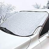 Sukuos Frontscheibe Abdeckung Autoscheibenabdeckung gegen Schnee, Eis, Frost, Windschutzscheibe für Winter (142 * 110 cm)