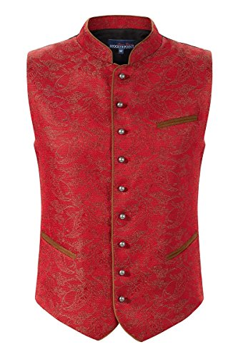 Stockerpoint Herren Trachtenweste rot-gold Paolo 114609 50 Rot-Gold