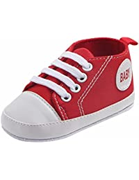 3-15 meses Bebe Niño Niña Zapatos de lona Color sólido Baby Zapatillas con cordones Primeros Pasos de Antideslizantes