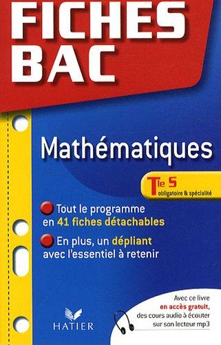 Mathématiques Tle S, obligatoire et spécialité