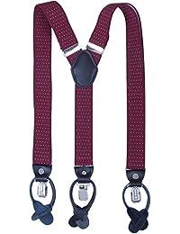 9744b42e46c Mens Button End Suspenders Braces - 1.37