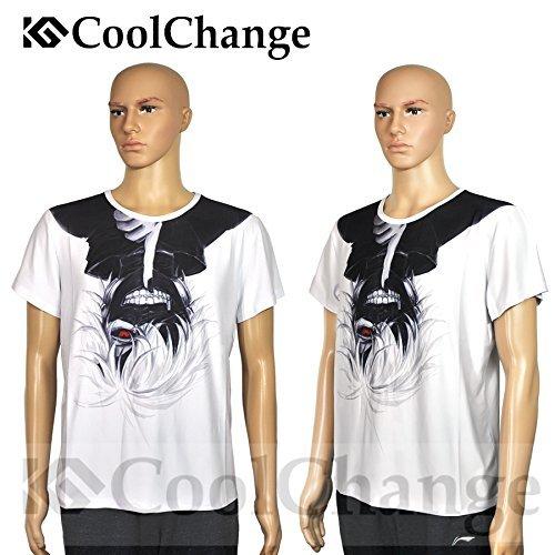Preisvergleich Produktbild CoolChange Hochwertiges Tokyo Ghoul T-Shirt mit Ken Kaneki Motiv, Weiß, Größe: L