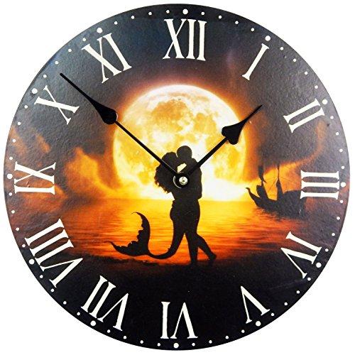 Reloj De Pared Romana Esfera, romántica reloj de cocina con el diseño de una sirena