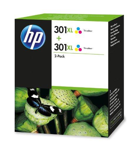 HP 301XL Multipack Original Druckerpatronen mit hoher Reichweite (2x Farbe) für HP Deskjet, HP...
