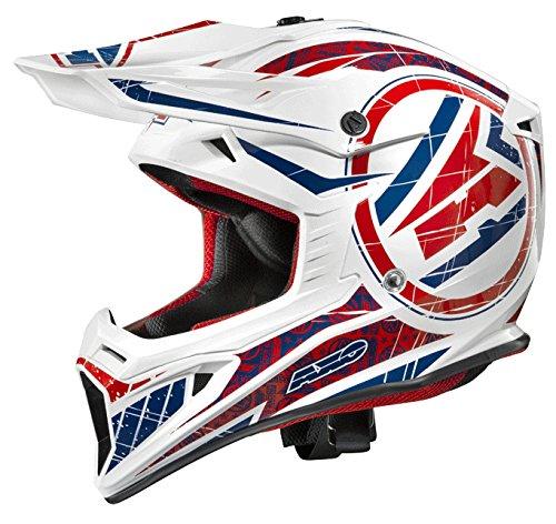 AXO Jump Helme, Weiss/Blau/Rot, M