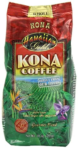 Hawaiian Gold Whole Bean Kona Coffee (10oz)