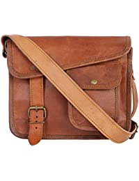 Khushi's Skill Genuine Leather Mens Sling Unisex Satchel Leather Messenger Bag