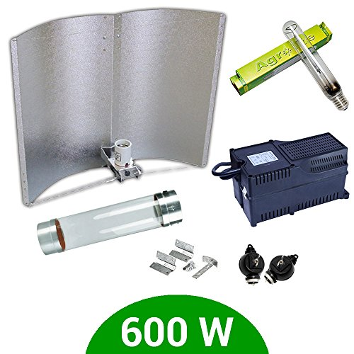 Kit d'éclairage 600 W SHP Agrolite + Ballast Agrolite classe 2 + coolTube + réflecteur Adjust-a-Wings Enforcer
