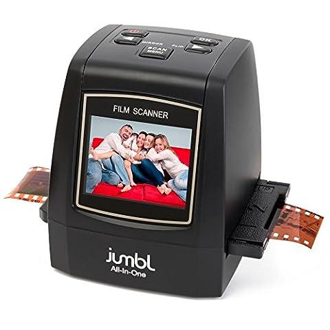 Jumbl 22MP All-In-1 Film & Slide Scanner w/ Speed-Load Adapters for 35mm Negative & Slides, 110, 126, & Super 8