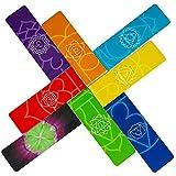 Segnalibri Magnetici Chakra (in Inglese) Lunghi, Più Colori Segnapagina, Bellissimi, Qualità Premium con Informazioni su Chakra (set di 8 pezzi, misura 2 x 8 cm piegato)