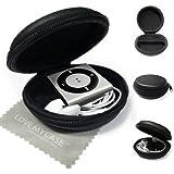 StyleBitz Etui ''coquillage'' pour Apple iPod Shuffle 2ème, 3ème et 4ème génération, fermeture zip (éclair) + tissu de nettoyage